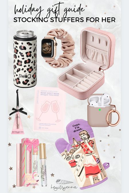 Stocking stuffers for her! Gifts for her Sister gifts and Christmas present ideas for your wife and girlfriend or best friend Can cooler Cute oven mitt Apple Watch band  #LTKHoliday #LTKGiftGuide