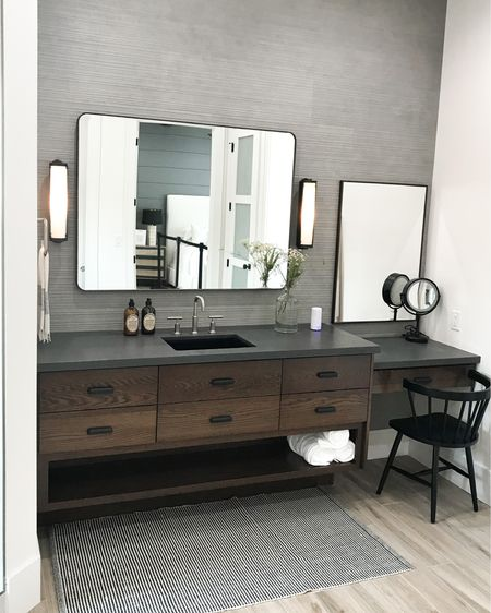 Who else would gladly accept this bathroom sink + vanity set-up? I know I would!  Are you big into vanities or is a bathroom counter as good as it gets? Comment below if you would ever build-in a bathroom vanity!  . . . 📷: @remodelaholic  Steven Dailey Construction   http://liketk.it/36J5E #liketkit @liketoknow.it  #simplystyleyourspace #falldecor #home #interiordesign #frenchcountrystyle #magnoliahome #hgtv #farmhousechic #fallinspo #interiorgoals #houseenvy #luxuryhomes #customehomes #homedesign #interiorinspirations #ceilingbeams #imaremodelaholic #bathroomstyle #gorgeousbathroom