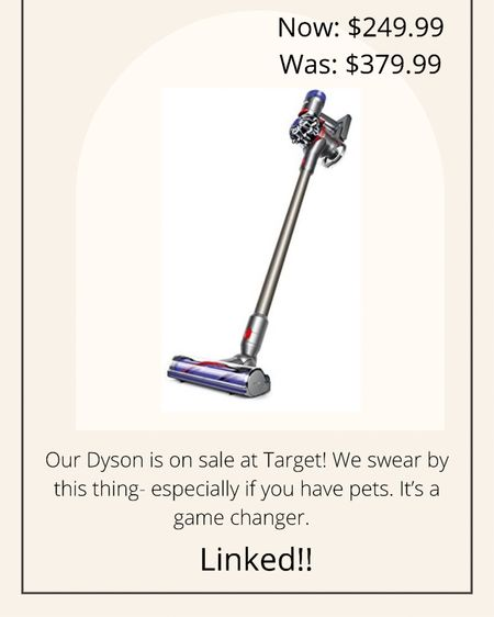 Dyson on sale!! $249!  http://liketk.it/3iaDu #liketkit @liketoknow.it #LTKsalealert #LTKhome #LTKunder50