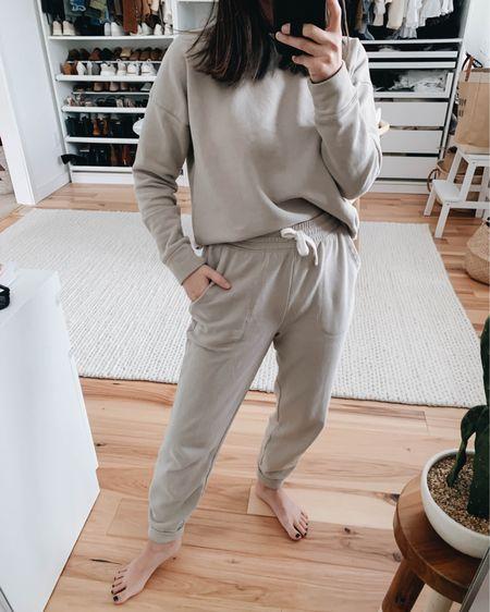 Splendid Eco sweat set. Sweatpants are great length for petites.   Top - Splendid xs Sweatpants - Splendid xs  http://liketk.it/36PX3 #liketkit @liketoknow.it