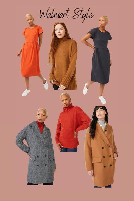 Walmart fashion finds Coat Shacket  Sweater dress @walmart   #LTKHoliday #LTKSeasonal #LTKstyletip
