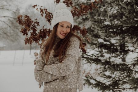 The cosiest fair isle sweater to wrap up winter, alongside my best knitted beanie 🥰  #LTKNewYear #StayHomeWithLTK #LTKunder100