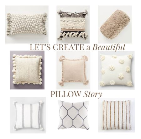 Mix and match and double up to create a beautiful pillow story with these stunning neutrals!    #style #pillow #home #homedecor #styleinspo #neutral #palette #design #decor   #LTKhome #StayHomeWithLTK #LTKstyletip