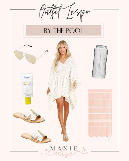 Outfit Inspo For A Day Spent By The Pool ☀️  #summeroutfits #poolday #coverup #swimcoverup #summerfashion #reddressboutique #quaysunglasses #brumate #beachtowel #summeroutfitinspo  #LTKswim #LTKSeasonal #LTKstyletip
