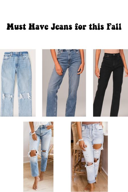 Must have jeans for fall! 90s vibes , high waisted, and mom jeans   #LTKSeasonal #LTKstyletip #LTKsalealert