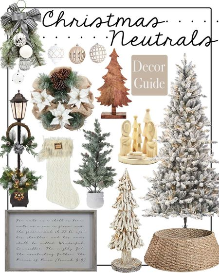 Christmas neutrals  Christmas decor  Christmas tree  Home decor  Walmart home    #LTKHoliday #LTKhome #LTKGiftGuide