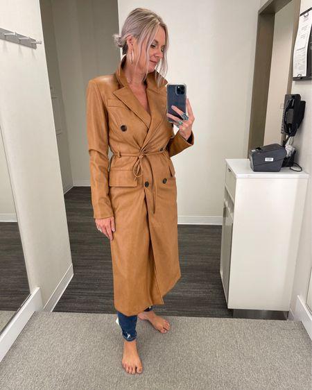Talk about a fall statement piece….this #nsale faux leather trench coat is SO good! 🧥 http://liketk.it/3jXaF @liketoknow.it    #liketkit #LTKsalealert #LTKworkwear #LTKstyletip