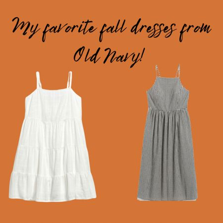 These dresses are from my recent Old Navy haul! I am loving the simple black and white gingham and white flowy dresses for fall! 🍂🧡💖  #LTKSeasonal #LTKcurves #LTKunder50