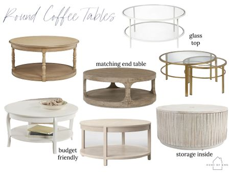 Round coffee table picks!   #LTKhome