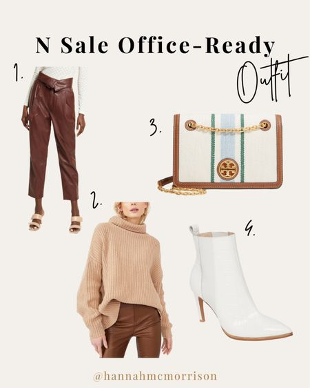 One of my favorite looks from the sale! These leather pants are perfectly on-trend but office appropriate paired with a turtleneck sweater and white bootie. I will be wearing this on stage for Sundays this fall while leading worship!   #LTKsalealert #LTKunder100 #LTKSeasonal