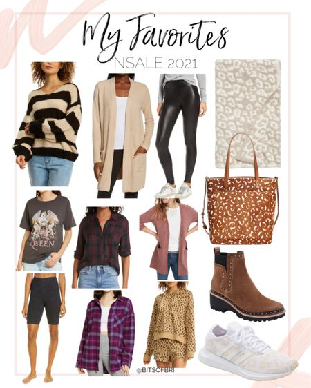 Some of my favorite items from the NSale!   Nordstrom anniversary sale. Fall outfits. Fall fashion. Sweater. Cardigan. Barefoot dreams. Spanx. Throw blanket. Graphic tee. Biker shorts. Plaid. Blouse. Tote bag. Lounge set. Booties. Boots. Sneakers.   #LTKunder100 #LTKsalealert #LTKunder50