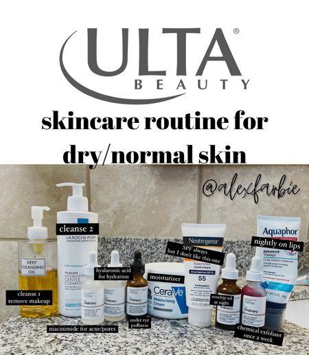 Ulta skincare — skin products for dry to normal skin   #StayHomeWithLTK #LTKunder50 #LTKbeauty