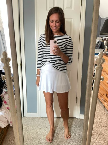 Tennis skirt. Runs small- I'm wearing my normal size small but I'm exchanging for a medium