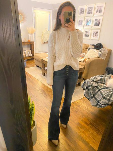 Flare jeans, Walmart finds   #LTKunder50 #LTKSeasonal #LTKsalealert