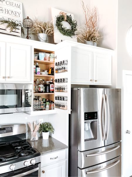 Simple Spice Cabinet Storage Idea for any home!! #storagesolutions #pantrystorage   #LTKunder50 #LTKhome