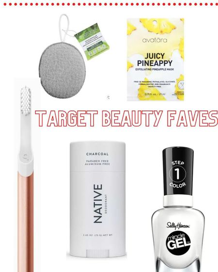 Click here to shop my Target beauty faves! I'm obsessed with the Quip toothbrush, NATIVE deodorant, Sally Hansen gel nail polish, Ecotools charcoal puff, and Avatara pineapple mask! Shop now to grab your favorites! http://liketk.it/38WNW #liketkit @liketoknow.it #LTKbeauty #StayHomeWithLTK #LTKstyletip Follow me on the LIKEtoKNOW.it shopping app to get the product details for this look and others