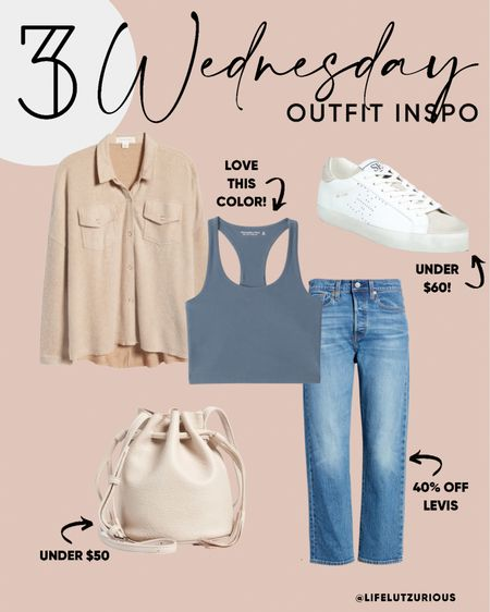 Wednesday #OOTD - Outfit Inspiration, Casual Outfit, Fall Outfit, Shacket Outfit, Bag under $50, Sneakers under $50   #LTKshoecrush #LTKstyletip #LTKsalealert