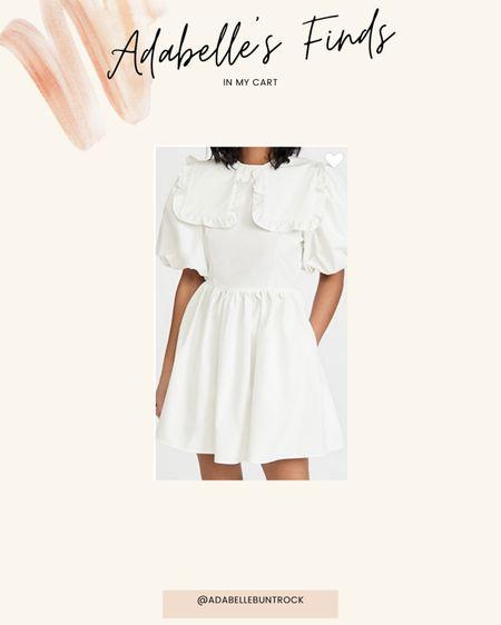 Shopbop white Peter Pan collar mini dress @liketoknow.it http://liketk.it/3gFco #liketkit #LTKunder100