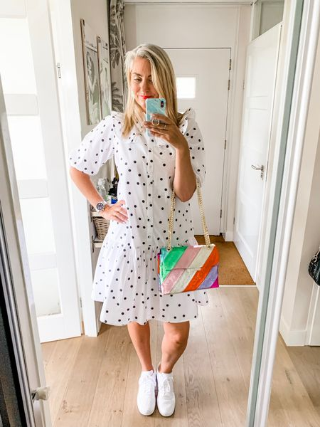 Outfits of the week-Saturday   This cute dress with polka dots, puff sleeves and ruffles (pinch me) is from Long Tall Sally (current collection) and I am wearing a UK12. I have linked similar items for you.    #LTKeurope #LTKworkwear #LTKstyletip