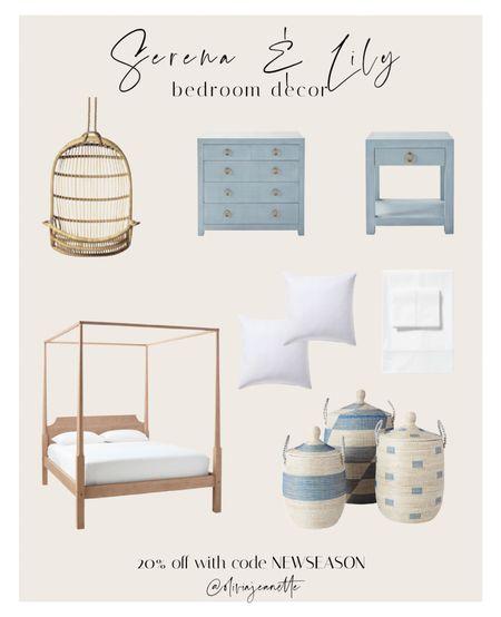 Serena & Lily Sale Bedroom decor. Use code NEWSEASON ❤️  #LTKsalealert #LTKhome #LTKunder100