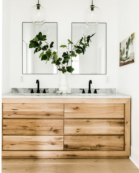 Sooo.... who else is plotting house projects to knock out in this next month?  Feeling like operation master bathroom should just go ahead and commence! What do you guys think? Start demo or Netflix + chill?  You can shop everything in this bathroom I designed for my parents ON MAJOR SALE right now by clicking the link in my bio. 👌🏼  Photography by @madelineharperphoto for #idcoathome http://liketk.it/2LJuA #liketkit @liketoknow.it