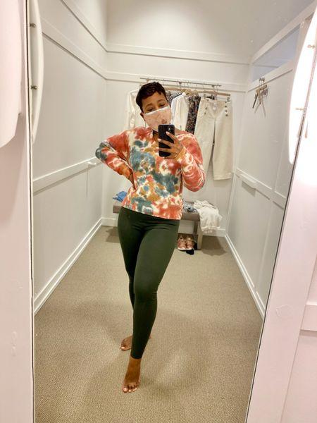 Lounge wear basics from #loft #loftimist #louandgrey Lou & Grey Tie Dye Sweater Ponte Leggings currently on sale!    #LTKunder50 #LTKsalealert
