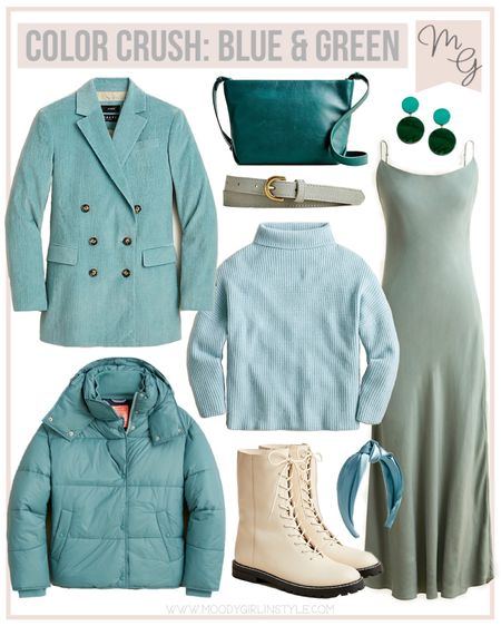 Color Crush Blue & Greens Outfit Ideas @jcrew #jcrew #fallinspiration #fallstyle, fall fashion, J.Crew, fall style, jcrew fashion, jcrew style, jcrew finds #LTKSeasonal #LTKstyletip #LTKsalealert  #LTKHoliday #LTKunder100 #LTKGiftGuide