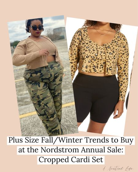 #NSale I'm sharing the plus size fall/winter trends you can buy TODAY at the Nordstrom sale. First up: a cropped cardigan and tank top set you can basically wear anywhere.   #LTKcurves #LTKunder100 #LTKsalealert