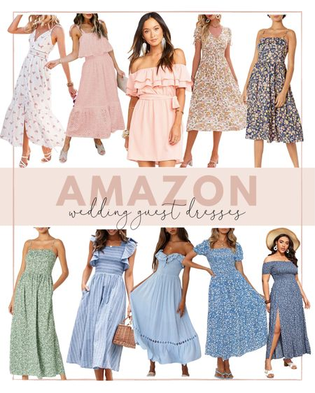 Amazon wedding guest dresses under $50! I've rounded up all my favorites for a summer wedding. So many of these are bump friendly too! http://liketk.it/3hFJg #liketkit @liketoknow.it #LTKwedding  #amazonprime