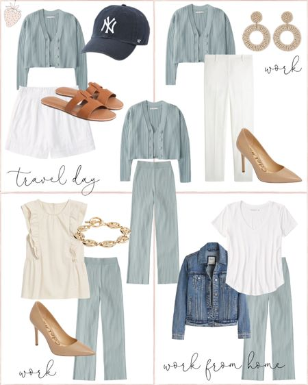 How to take one matching separate set and style it four ways for work, a travel day and work from home! http://liketk.it/3hdOO #liketkit @liketoknow.it