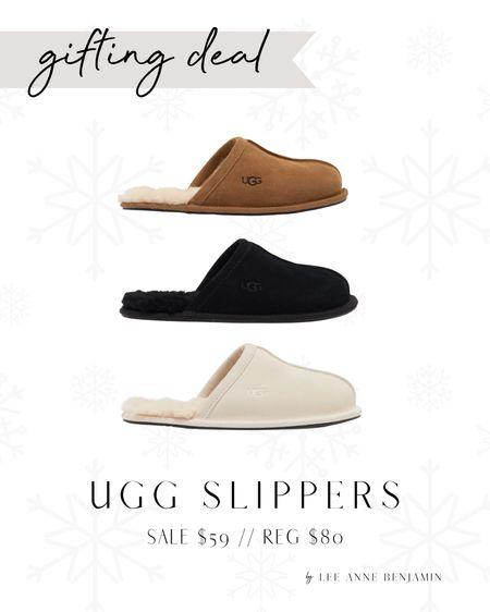UGG slippers on sale for 25% off! Come in 3 colors!  Sale $59 // Reg $80  #LTKSeasonal #LTKHoliday #LTKGiftGuide