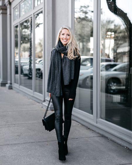 Faux leather leggings and big travel scarf ♥️ http://liketk.it/2z8an #liketkit @liketoknow.it #LTKholidaystyle #LTKholidayathome #LTKholidaywishlist #LTKholidaygiftguide #LTKunder100 #LTKunder50 #LTKshoecrush #LTKstyletip #LTKfit #LTKbeauty #LTKsalealert #LTKwedding #LTKitbag