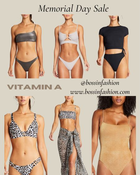 http://liketk.it/3gysi Vitamin A swim on sale for 60% off during Memorial Day!! Their suits are amazing! Shop my favorites. Loving the one piece to the bikinis! #bikini #swim #memorialdaysale #vitamina #vitaminaswim #sale http://liketk.it/3gq6q #liketkit @liketoknow.it #LTKswim #LTKstyletip You can instantly shop all of my looks by following me on the LIKEtoKNOW.it shopping app