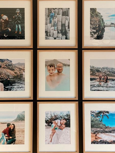 I love a family gallery wall with matching photo frames. Plus, this one is giving me all the spring home decor vibes right now... full of vacation photos! #gallerywall #photoframes #wallgallery   #LTKfamily #LTKhome #LTKunder50
