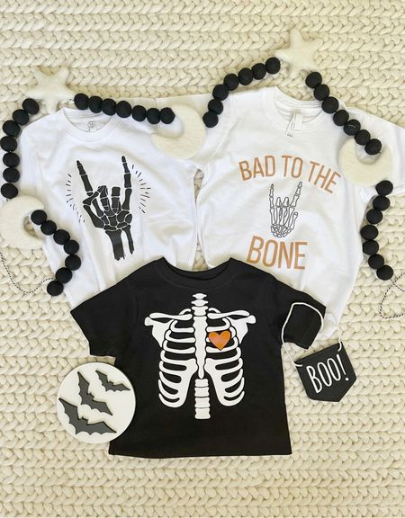 H A L L O W E E N \ Some of my fave new #halloweeb tees for Ford and cayuuute decor!💀🖤🤍  #baby #toddler #babyboy #halloween #halloweencostume   #LTKfamily #LTKbaby #LTKHoliday