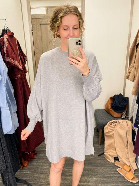Cozy sweater dress under $50. Great with high kneee boots or leggings!   #LTKunder50 #LTKHoliday #LTKSeasonal
