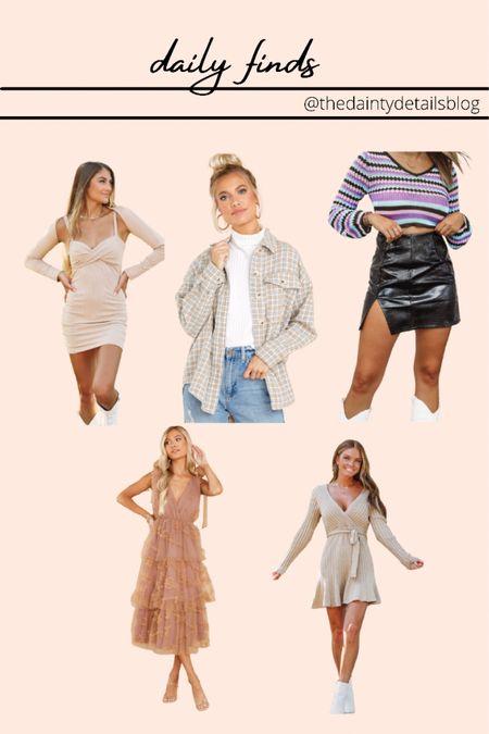 Daily finds: fall dress, shacket, sweater dress, leather skirt, wedding guest dress, fall dresses, teacher outfits  #LTKSeasonal #LTKbacktoschool #LTKunder100