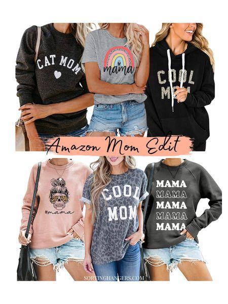 Amazon Mom Shirts/Sweaters   #LTKSeasonal #LTKunder50 #LTKstyletip