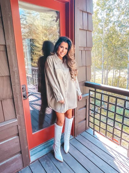 Missguided, Faux Leather Shirt Dress, Fall Fashion, Fall Dress, Fall Outfit Idea, Emily Ann Gemma  http://liketk.it/3o6xh   #LTKSale