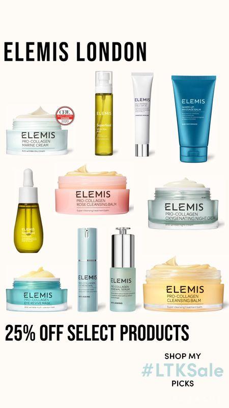 Elemis London 25% off select products  Skincare   #LTKSale #LTKsalealert #LTKbeauty