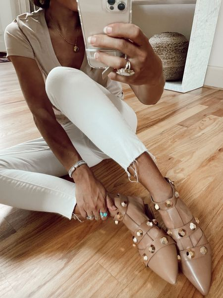 Stud flats $32 & Kut jeans @liketoknow.it #liketkit http://liketk.it/3hNno #LTKunder50 #LTKstyletip #LTKshoecrush