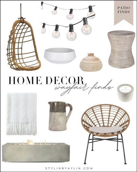 Wayfair finds, patio decor, patio home decor, neutral home decor, simple home decor, StylinByAylin   #LTKSeasonal #LTKstyletip #LTKhome