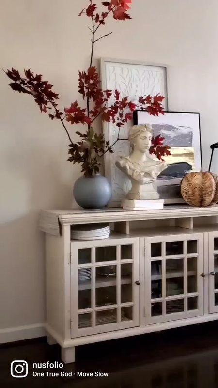 Vase, pumpkins, dining table, dining room decor, bust, lanterns, fall decor, fall kitchen    #LTKstyletip #LTKhome #LTKHoliday