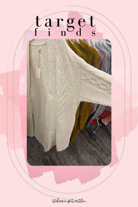Long cardigan. Target finds. Fall cardigan.   #LTKstyletip #LTKunder50