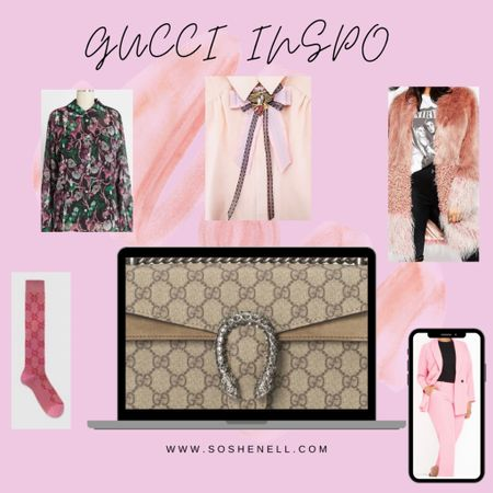 Gucci Inspo Board! 🌸 This look is perfect for Valentine's Day and everything in between, so feminine, so edgy!    #liketkit @liketoknow.it http://liketk.it/37lDt #LTKVDay #LTKcurves #LTKunder50 #gucci #powersuit #pinstripes