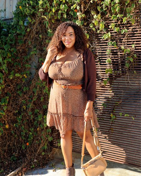 Add a cropped cardigan to a Fall dress = 🤎🧡🤎   I have this same dress in green. I thought it was so good that I bought in brown 🤎 too! I'm wearing an xxl in this dress and an xl in the cardigan.   I linked both of these in my @Amazonfashion store! You can follow me on @Amazon so you don't miss my finds. Go to the link in Bio. #founditonamazon  #affiliatelink #commissionsearned ——————————————————————————— 🇩🇴 Agrega un cárdigan corto a un vestido de otoño = 🤎🧡🤎  Tengo este mismo vestido en verde. ¡Pensé que era tan bueno que compré en marrón 🤎 también! Llevo un xxl en este vestido y un xl en el cárdigan.  ¡Vinculé ambos en mi tienda @Amazonfashion! Puedes seguirme en @Amazon para no perderte mis hallazgos. #founditonamazon  #affiliatelink #comisiónsearned  • • • • • #amazonfinds #amazonfashion #curvefashion #curvystyle #curvygirl #midsizeblogger #curvyblogger #fallstyle   #LTKcurves #LTKunder50