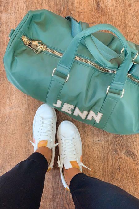 Travel duffel bag - Stoney clover. Shoes are Nike TTS and joggers are Zella // #southernanchors #leywestblogger   #LTKshoecrush #LTKtravel #LTKSeasonal