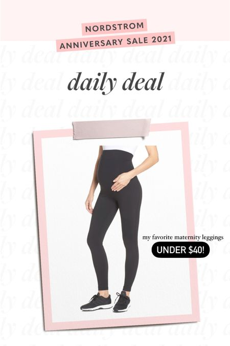 maternity leggings, Nordstrom sale, nsale 🖤🖤 http://liketk.it/3jUza #liketkit @liketoknow.it #LTKsalealert #LTKunder50 #LTKbump