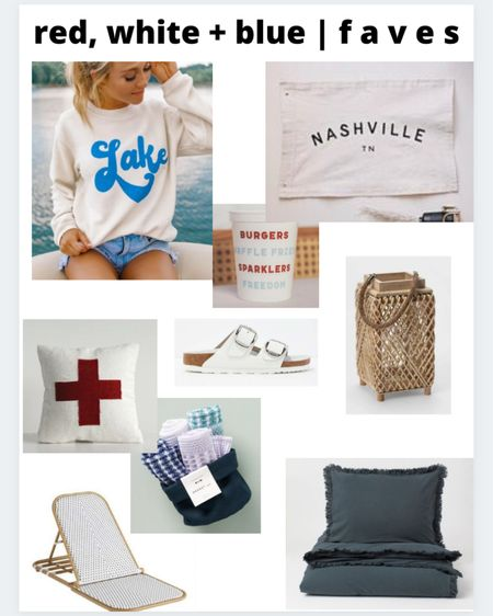 Last minute 4th of July faves to wear and to decorate the house with! Bonus, all items are on sale! http://liketk.it/3i6Is #liketkit @liketoknow.it #LTKsalealert #LTKhome #LTKstyletip