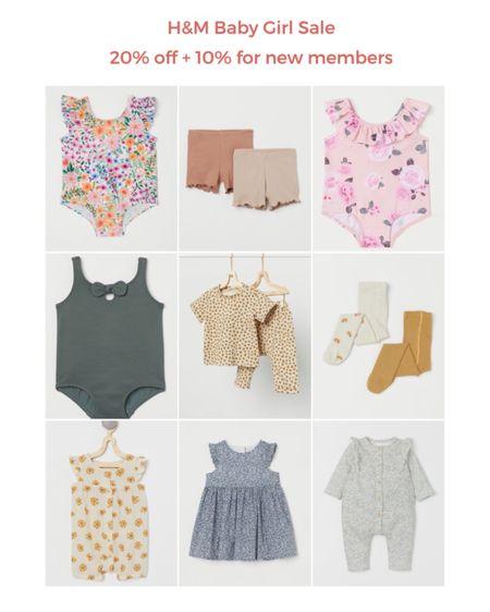 H&M baby girl sale! 20% off + 10% for new members 💛 http://liketk.it/3bZik #liketkit @liketoknow.it